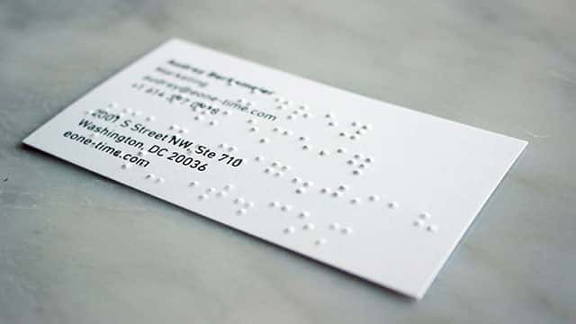 best-braille-business-cards